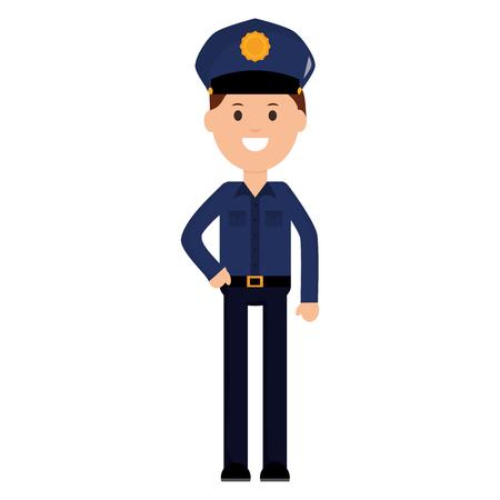 Oficial de policía avatar ilustración Vectorial character design
