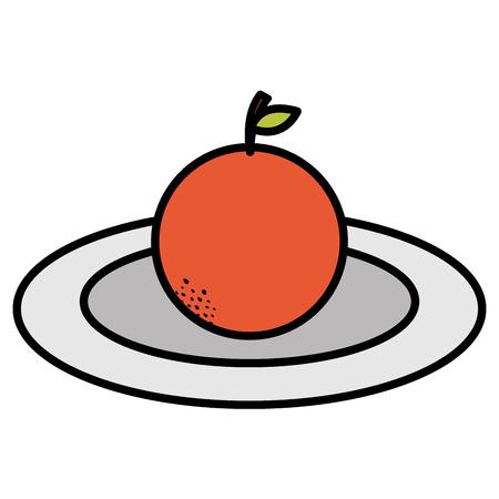 orange citrus fresh fruit icon vector illustration design Illustration