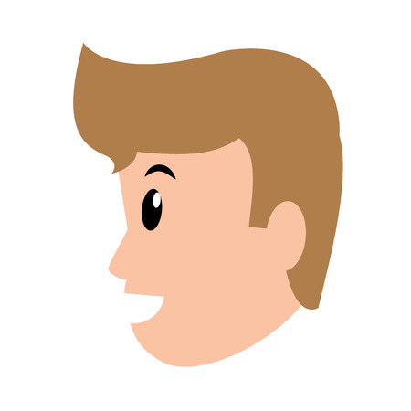 young man avatar only face vector illustration graphic design Imagens - 122693559