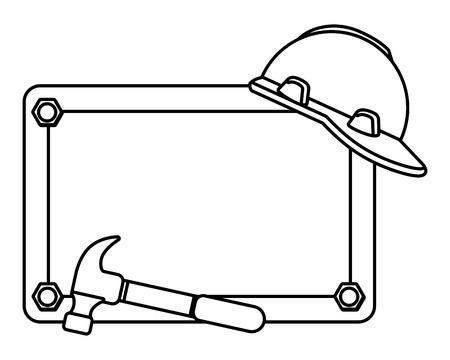 construction architectural tools cartoon vector illustration graphic design Illustration
