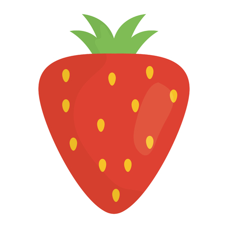 strawberry fresh fruit icon vector illustration design  イラスト・ベクター素材
