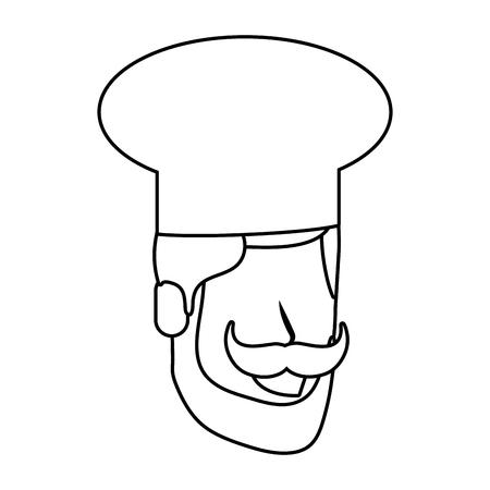 labor day job career gastronomy food chef face cartoon vector illustration graphic design Illustration
