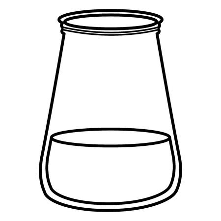 mason jar glass with liquid vector illustration design Ilustração