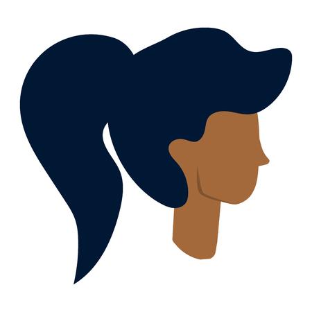 woman face cartoon vector illustration graphic design