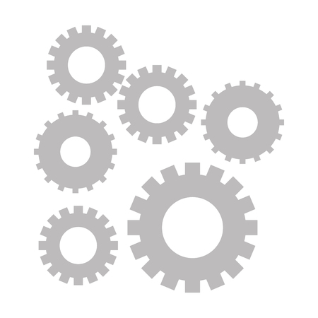 gears support cartoon vector illustration graphic design