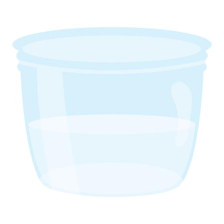 mason jar glass with liquid vector illustration design Ilustrace