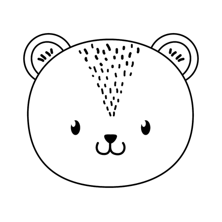 cute bear woodland character vector illustration design Foto de archivo - 122700855