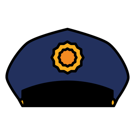 police hat uniform icon vector illustration design