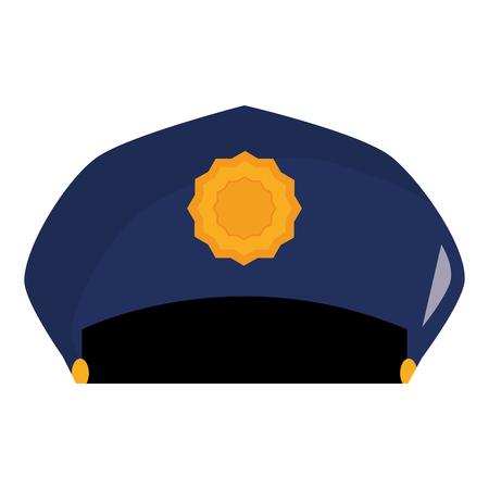 police hat uniform icon vector illustration design