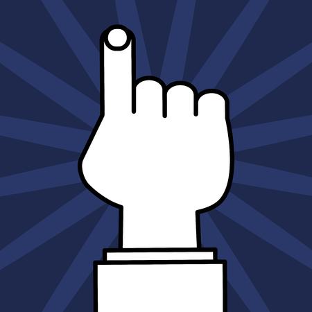 hand human index icon vector illustration design