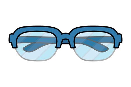 glasses view cartoon vector illustration graphic design
