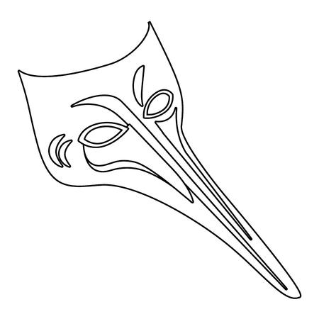 carnival mask cartoon Illustration
