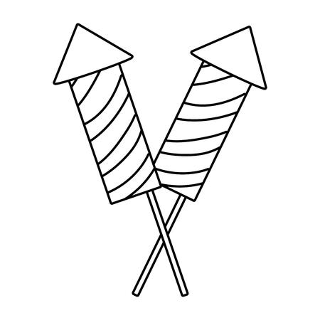 firework rockets cartoon vector illustration graphic design Illusztráció