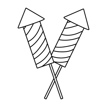 firework rockets cartoon vector illustration graphic design Illustration