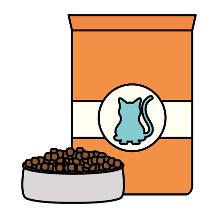 cat pet food bag icon vector illustration design