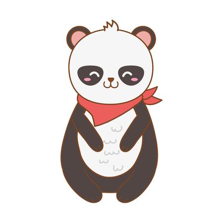 cute bear panda woodland character vector illustration design Foto de archivo - 122632137