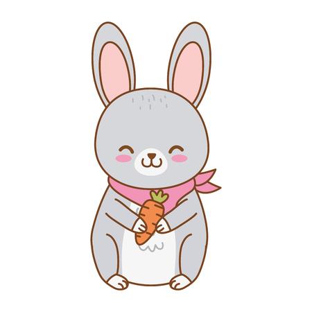 cute rabbit woodland character vector illustration design Foto de archivo - 122632260