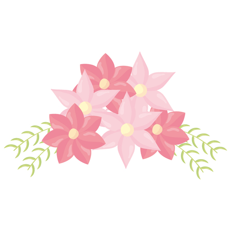 flowers and leafs decoration vector illustration design 向量圖像
