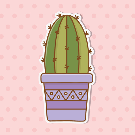cactus icon cartoon colorful background vector illustration graphic design Ilustracja