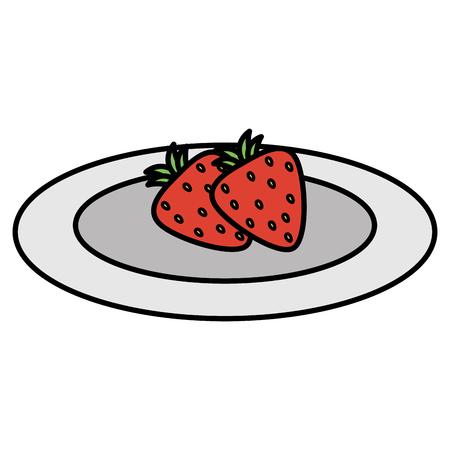 strawberry fresh fruit icon vector illustration design Illustration