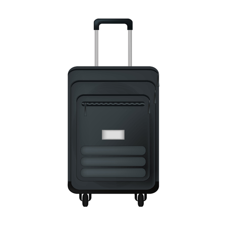 travel suitcase journey vacation equipment vector illustration