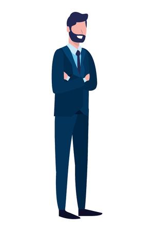 labor day job career business executive man cartoon vector illustration graphic design