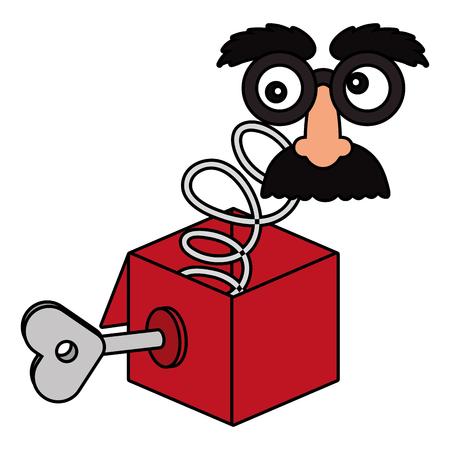 april fools day joke box cartoon vector illustration graphic design