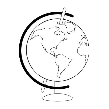 world map cartoon vector illustration graphic design