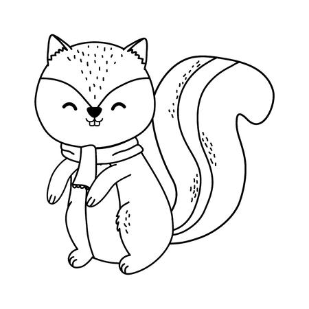 cute chipmunk woodland character vector illustration design Foto de archivo - 122634854