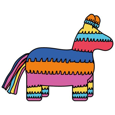mexican pinata traditional element vector illustration design Фото со стока - 122564401