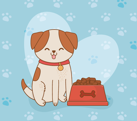 cute little doggy mascot character vector illustration design Standard-Bild - 122565179