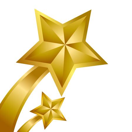 Big Gold Star for winner Ilustração