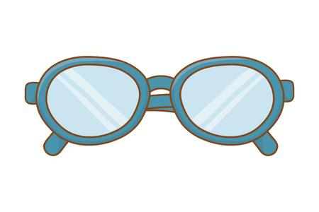 glasses icon cartoon isolated vector illustration graphic design