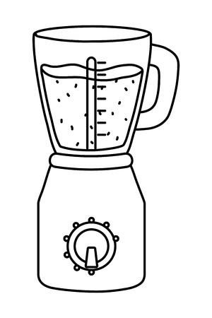 delicious healthy fruit orange smoothie inside blender cartoon vector illustration graphic design