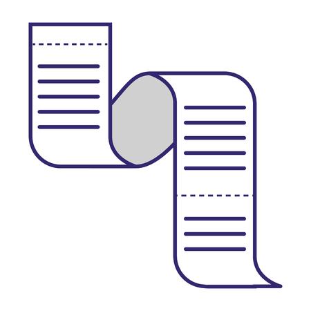 Bankgeschäftsservice Papierquittung Finanzplanung Zahlung isoliert Vektor-Illustration-Grafik-Design Vektorgrafik
