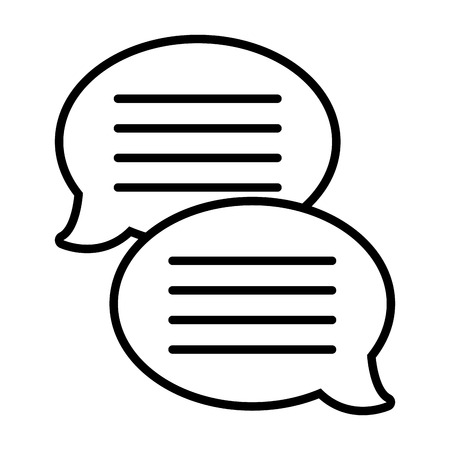 Text bubble chat app smartphone communication connectivity speech black and white vector illustration graphic design