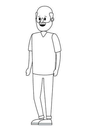 young man body cartoon vector illustration graphic design