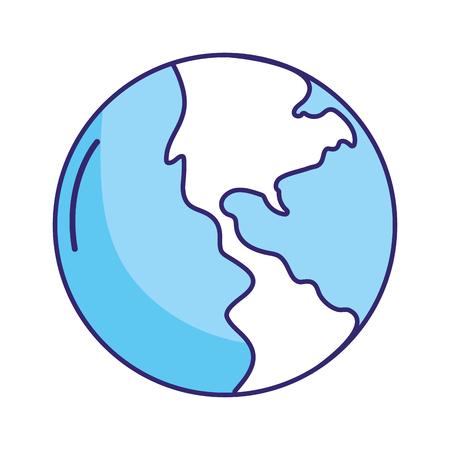 wolrd map cartoon vector illustration graphic design Ilustrace