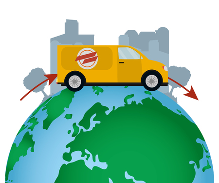 worldwide delivery service order vector illustration graphic design Stockfoto - 122495281