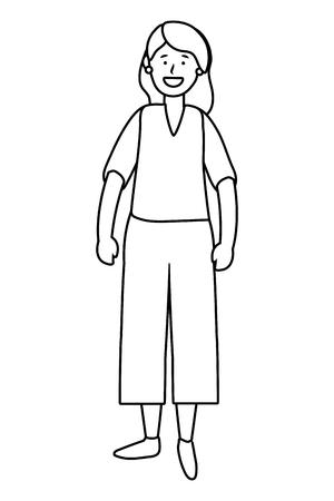 old woman avatar cartoon character isolated vector illustration graphic design 일러스트