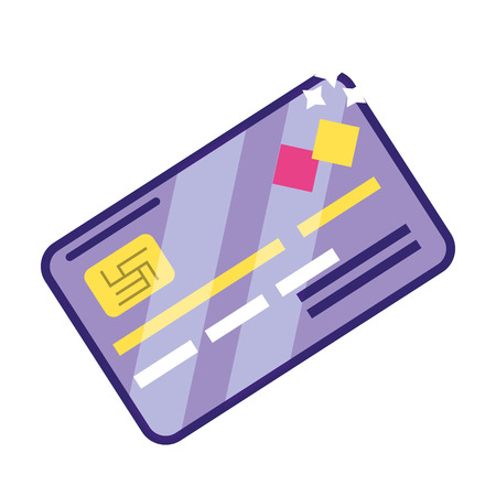 Banking invesment credit card currency finance planning payment isolated vector illustration graphic design