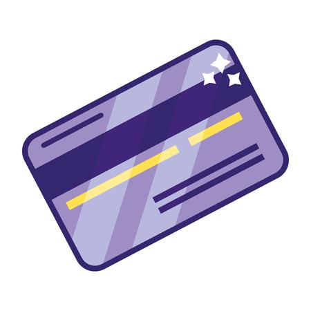risparmio di denaro contabilità aziendale carta di credito fumetto illustrazione vettoriale graphic design