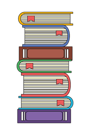 education elements books cartoon vector illustration graphic design Zdjęcie Seryjne - 122501424