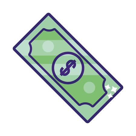 saving money business accounting bill cartoon vector illustration graphic design