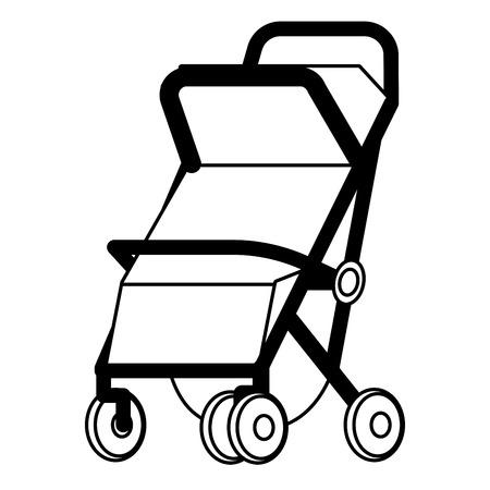 baby carriage icon cartoon vector illustration graphic design