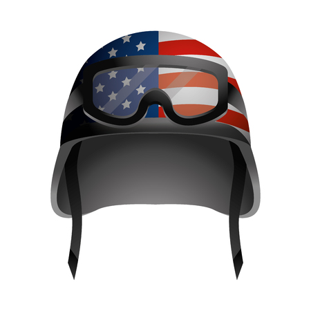 military helmet icon cartoon vector illustration graphic design Иллюстрация