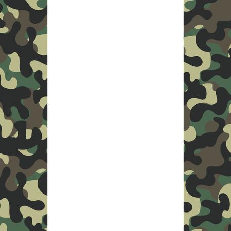 camouflage frame icon cartoon vector illustration graphic design