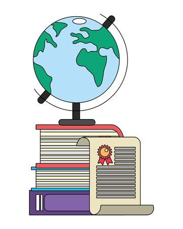 education elements cartoon vector illustration graphic design Illustration