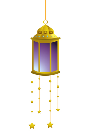 hanging lamp icon cartoon vector illustration graphic design