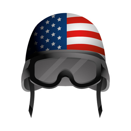 military helmet icon cartoon vector illustration graphic design Ilustrace